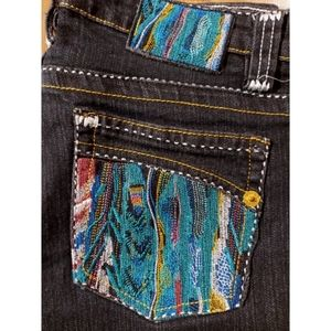 COOGI embroidered slim skinny jeans embroidery